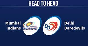 d d mi vs dd head to head dd vs mi head to head ipl records ipl 2018