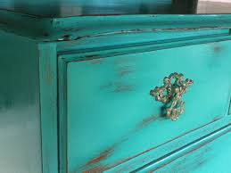 shabby chic 7 drawer tallboy in distressed turquoise u0026 copper nz