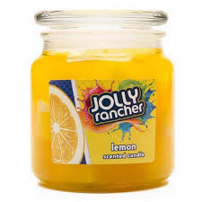 buy jolly rancher lemon scented jel candle at candlemart com for