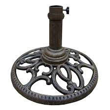 Patio Umbrella And Base Shop Oakland Living Mississippi Antique Bronze Patio Umbrella Base