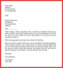 official cover letter format formal letter format year business