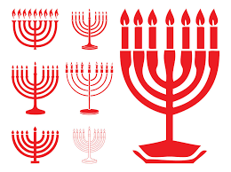 hanukkah menorahs hanukkah menorahs vector graphics freevector