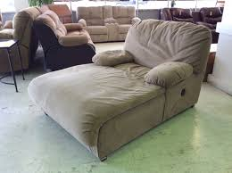 Reclining Chaise Lounge Extra Wide Chaise Lounge Big Home Furniture Cream Colored Fabric
