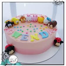 Cake Decorating Singapore Disney Tsum Tsum Buttercream Cake Singapore White Spatula