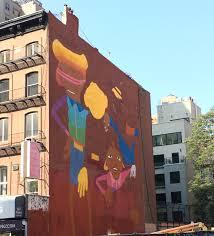 os gemeos break dancers double mural on west 14th street the os gemeos mural western face week of sept 9