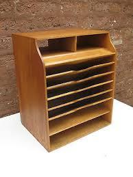 Desk Sorter Organizer Antique Vintage Wood Office Desk File Organizer Mail Sorter Tray