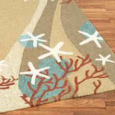 coral waves coastal indoor outdoor rugs