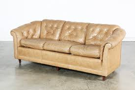 Tufted Vintage Sofa by Vintage Tan Leather Tufted Sofa Vintage Supply Store