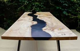 live edge river table epoxy sold black river table with epoxy inlay sold