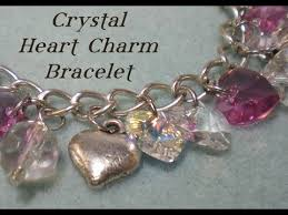 crystal heart charm bracelet images Crystal heart charm bracelet tutorial jpg