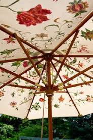 Floral Patio Umbrella Dusty Coyote Umbrella Facelift Outdoor Decorating Ideas