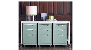 Desk With Filing Cabinet Drawer Tps Mint 3 Drawer File Cabinet In Office Furniture Reviews Cb2