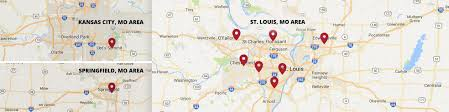 Map Of Kansas City Mo Traffic Law Center Locations Serving Missouri Illinois And Kansas