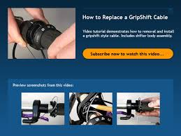 how to replace a l cord how to replace a gripshift cable bicycle tutor video