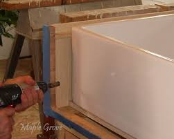 maple grove how to build a support structure for a farm house sink