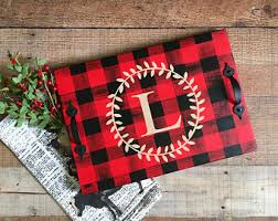 buffalo plaid decor etsy