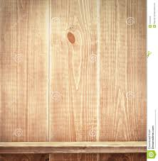 Wood Plank Shelves by Empty Shelf On Wooden Wall Stock Photography Image 31201322