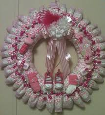 baby shower wreath photo baby shower wreath diapers baby image