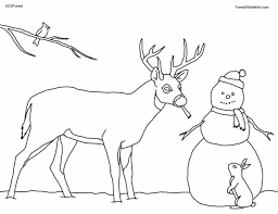 coloring pages kids black hat winter snowman coloring page