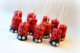 ladybug birthday party favors dessert chocolate dipped