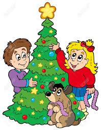 decorated christmas tree clipart clipartsgram com
