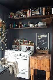 Rustic Kitchens Ideas Black And White Rustic Kitchen With Boho And Vintage Style