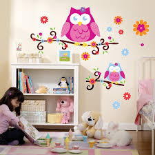 Owl Wall Sticker Owl Blossom Giant Wall Decals Birthdayexpress Com