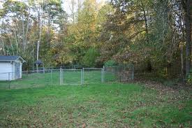 view of fenced backyard house for rent in seneca sc