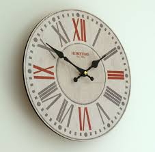 Large Shabby Chic Wall Clock by Bright Numeral Wall Clock 14 Large Number Wall Clock Wall Clock