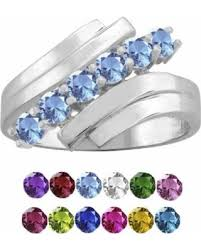 mothers rings white gold deal alert 10k white gold cut 6 mothers ring size 5