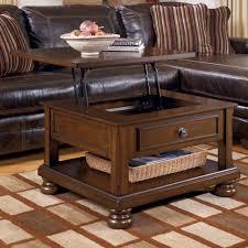 Wood Storage Ottoman Coffee Table Round Coffee Table With Drawers Storage Ottoman