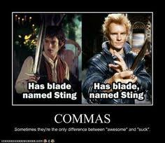 Oxford Comma Meme - commas are not the chocolate sprinkles of the written word