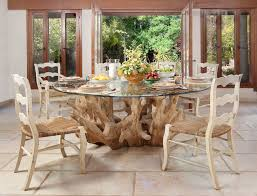 driftwood dining room table driftwood dining room table awesome round glass with base davinci