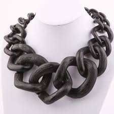 black costume necklace images Trendy jewelry costume necklace big chain matte color chain jpg