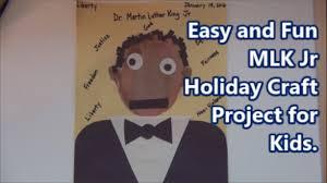 fun mlk jr holiday craft project for kids proyecto diversión mlk