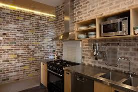 wallpaper design batu bata brick batu bata dinding dapur beda beda design interior
