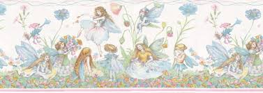 KIDS GIRLS ROOM FAIRIES Wallpaper Border B EBay - Wall borders for kids rooms