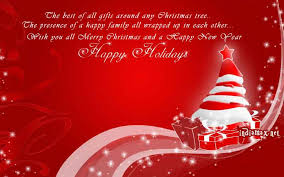 merry card saying happy holidays