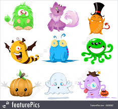 Cartoon Halloween Monsters Halloween Halloween Monsters Pack Stock Illustration I3029092