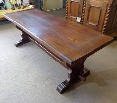 th century french antique oak trestle table from trestle tables