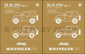 2001 jeep wrangler owners manual 1986 1988 jeep wrangler yj repair shop manual reprint mr 279