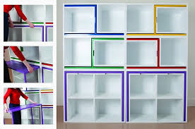 modular dining table and chairs a bookcase that stores a dining table and chairs