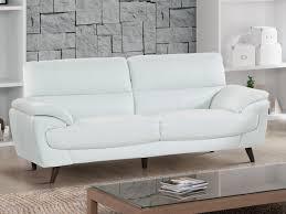 canap blanc cuir canapés et fauteuil en cuir de vachette blanc holger