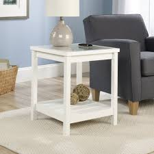 cheap white side table amazon com sauder cottage road side table soft white finish