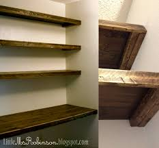 How To Build Shelves In Closet by 2 Inch Thick Wood Wall Shelves 16 Image Wall Shelves