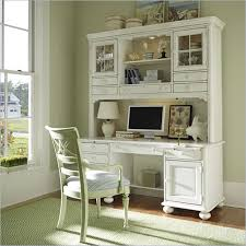 wood computer desk with hutch stanley coastal living wood computer desk hutch in antique white 829