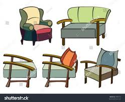 Different Sofa Designs Double One Person Stock Vector - Different sofa designs