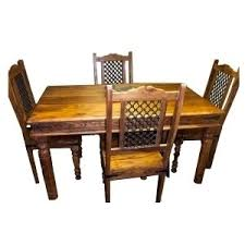 indian wood dining table indian furniture thakat dining table with 4 jali chairs set 5 x 3