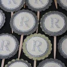 monogram cupcake toppers best custom cupcake toppers products on wanelo