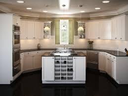 Modern Island Kitchen Designs 2015 Cool Modern U Shape Kitchen Features Grey Colour Kitchen Cabinets